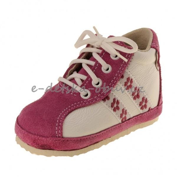 Dětská obuv Capáčky PEGRES 1093  růžové - a8ef8158fd