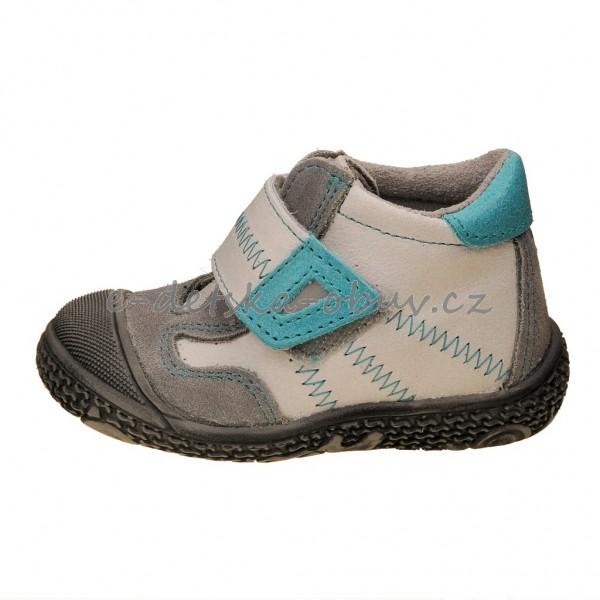 Dětská obuv - Santé N661 201  bílá tyrkys  648c9cbdaf