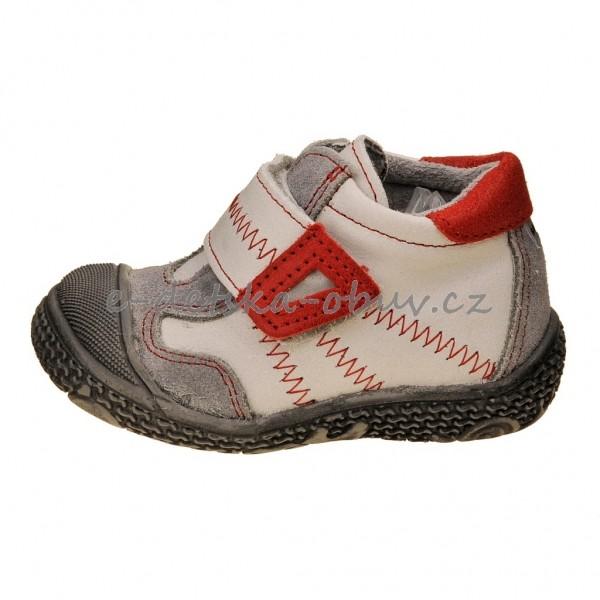 Dětská obuv - Santé N661 201  bílá červená  eb9a54b3c8