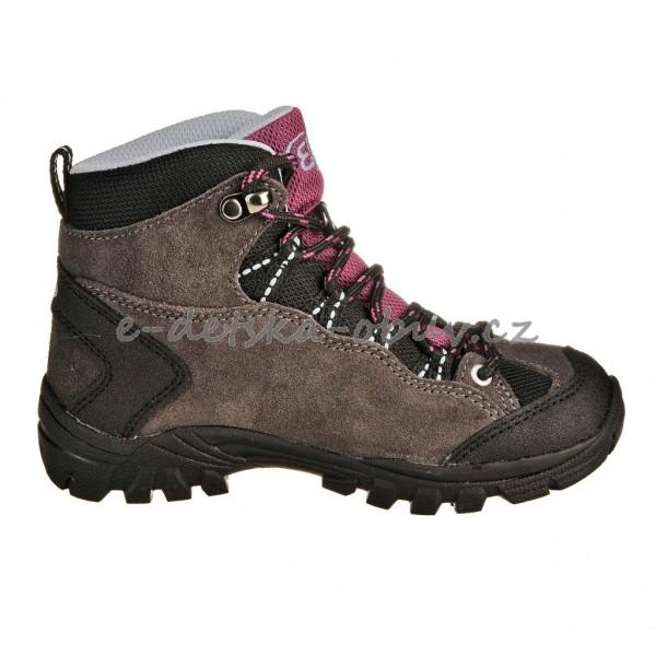 21ac87122c56 Dětská obuv - Brütting Mount Bona High  grau lila