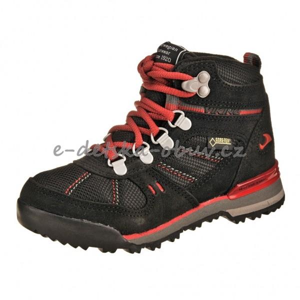 8c7f31e1036 Dětská obuv VIKING Yukon GTX  blk red -