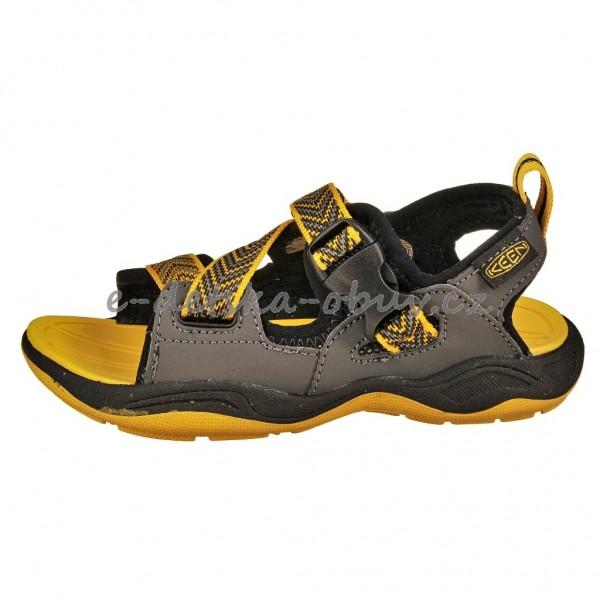 Dětská obuv - KEEN Rock Iguana  black yellow  6878daf9b7