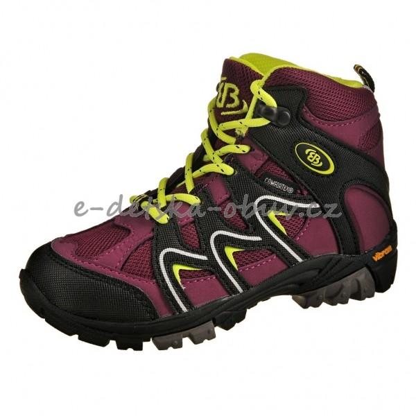Dětská obuv Brütting Vision High  bordeaux - 9169246484