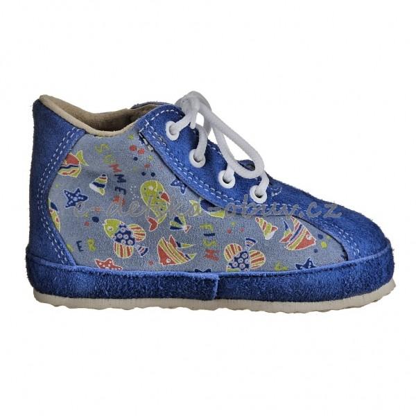 a0f53785f2e Dětská obuv - Capáčky PEGRES 1093  modrá rybka