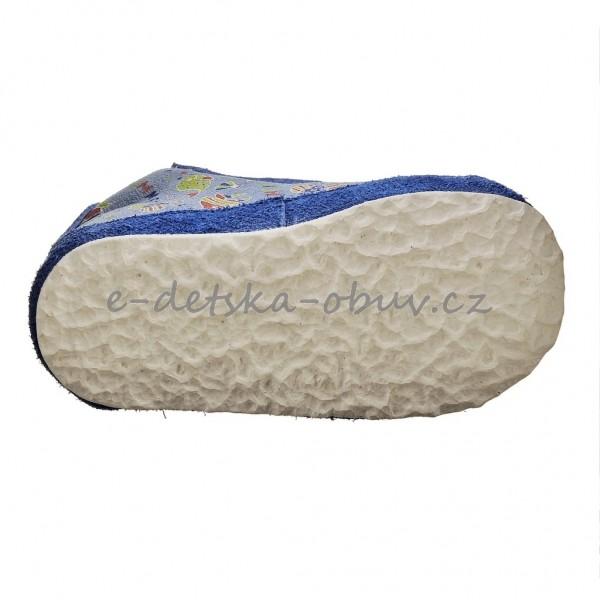 Dětská obuv - Capáčky PEGRES 1093  modrá rybka  6629c3f260