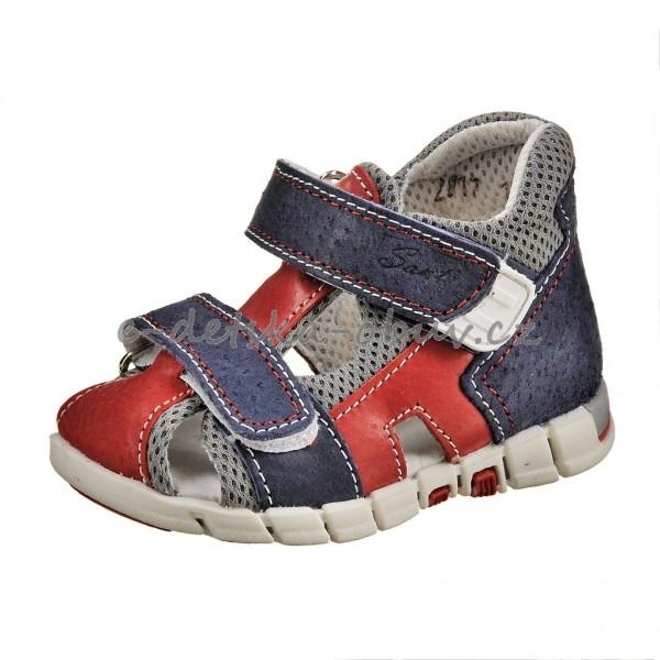 22156f953da Dětská obuv Sandálky Santé 810 401  modro červené     -