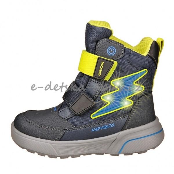 Dětská obuv - GEOX J Sveggen  navy lime  5a54f89606