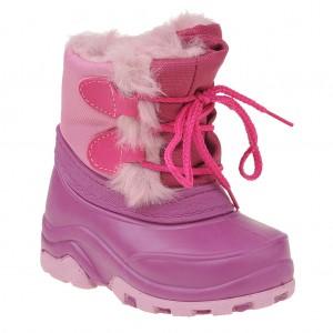 Dětská obuv Termoobuv růžová stahovací -  Zimní