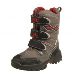Dětská obuv LICO Blinky Snow V  grau schwarz rot - 910fece242