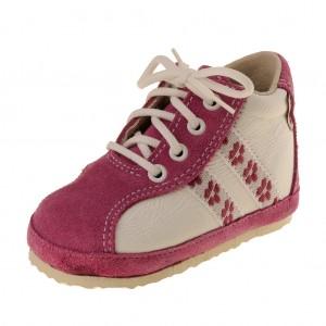 Dětská obuv Capáčky PEGRES 1093   /růžové -  První krůčky