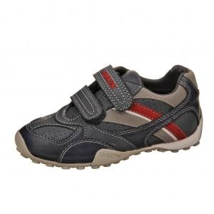Dětská obuv GEOX  J Snake B   /navy/red -  Celoroční