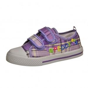 Dětská obuv Plátěnky PEDDY PS-501-27-17 /fialová -