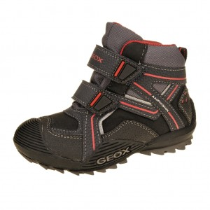 GEOX J Savage WP   /black/red