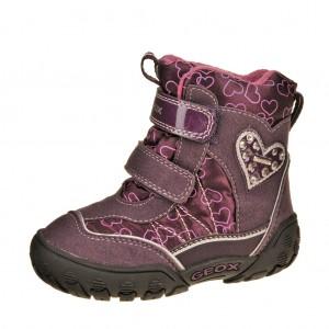 Dětská obuv GEOX B Gulp   /dk.purple -  Zimní