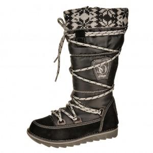 Dětská obuv s'Oliver kozačky 46600  /black -  Zimní