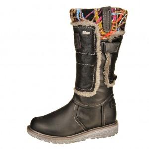 Dětská obuv s'Oliver kozačky 46601  /black -  Zimní