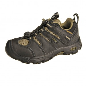 Dětská obuv KEEN Koven low WP /black/burnt olive -  Celoroční