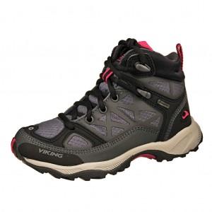 Dětská obuv VIKING Ascent JR GTX  /charcoal/purple -  Do hor nebo nížin