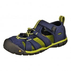 Dětská obuv KEEN Seacamp   /blue depths/lime green -  Sandály