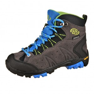 Dětská obuv Brütting Mount Bona High   /grau/blau -  Do hor nebo nížin