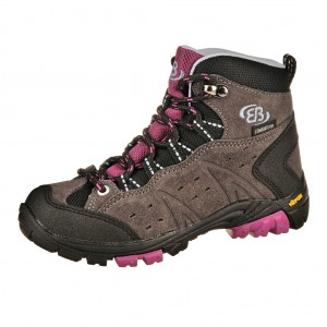 Dětská obuv Brütting Mount Bona High   /grau/lila -  Do hor nebo nížin