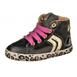 Dětská obuv GEOX B Kiwi G   /black/gold -  Celoroční