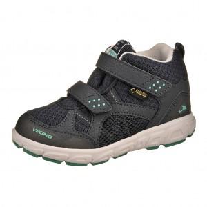 Dětská obuv VIKING Hobbit MID GTX   /navy/green -  Sportovní