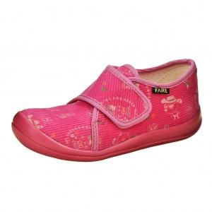Dětská obuv FAREčky   /růžové na suchý zip -  Na doma a do škol(k)y