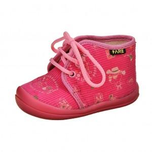 Dětská obuv FAREčky   /růžové šněrovací -  Na doma a do škol(k)y
