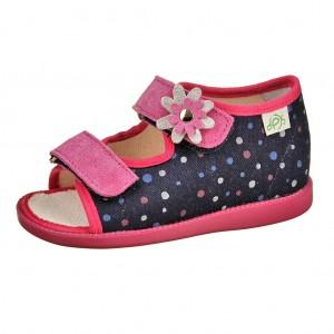 Dětská obuv Domácí sandálky DPK /modré/růžové -