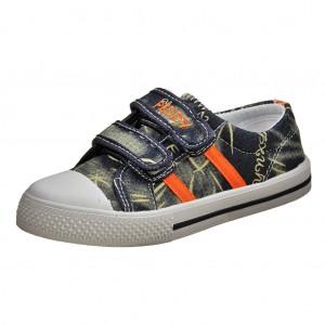 Dětská obuv Plátěnky PEDDY PU-501-23-24  /navy/orange -