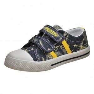 Dětská obuv Plátěnky PEDDY PU-501-27-24  /navy/yellow -