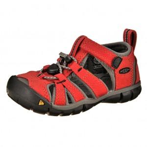 Dětská obuv KEEN Seacamp   /racing red/gargoyle -