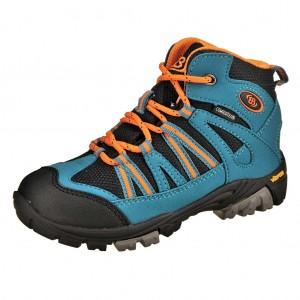 Dětská obuv Brütting Ohio High   /petrol/orange -  Do hor nebo nížin