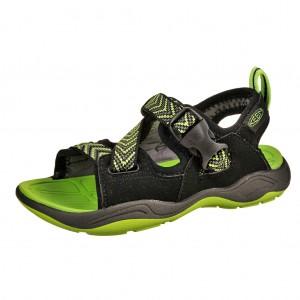 Dětská obuv KEEN Rock Iguana  /black/jasmine green -  Sandály