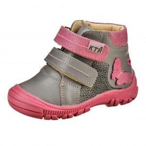 Dětská obuv KTR 162/1/M   /šedá/fuxia - Boty a dětská obuv