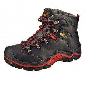 Dětská obuv KEEN Torino MID WP   /black/red dahlia -  Do hor nebo nížin