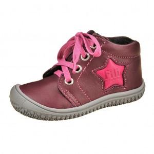 Dětská obuv Filii barefoot berry/pink -  První krůčky