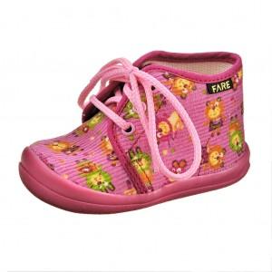 Dětská obuv FAREčky   /růžové šněrovací -  První krůčky