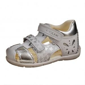 Dětská obuv GEOX B Kaytan  /white/silver -  Sandály