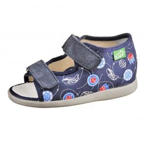 Dětská obuv Domácí sandálky DPK /tm. modré -