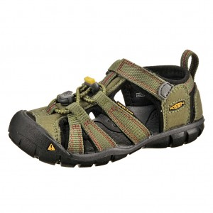Dětská obuv KEEN Seacamp   /bronze green/chili pepper -