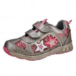 Dětská obuv LICO Glitzer V  blinky  grau/pink - Boty a dětská obuv