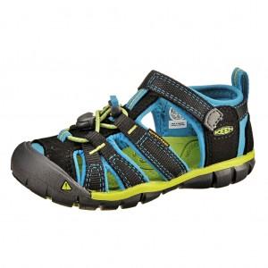Dětská obuv KEEN Seacamp   /black/blue danube -  Sandály