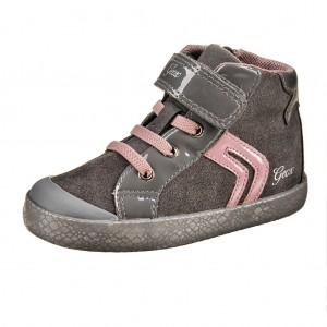 Dětská obuv GEOX B Kiwi G   /grey/dk.pink - Boty a dětská obuv
