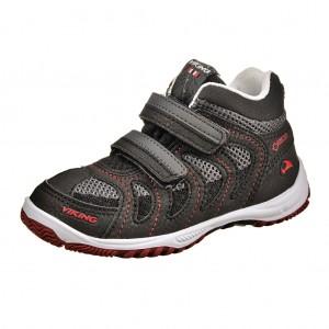 Dětská obuv VIKING Cascade II MID GTX   /blk/red -  Celoroční