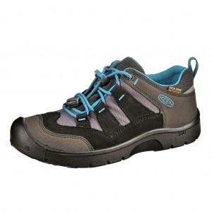Dětská obuv KEEN Hikeport WP  /black/blue jewel -  Sportovní