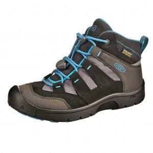 Dětská obuv KEEN Hikeport MID WP  /black/blue jewel -  Sportovní