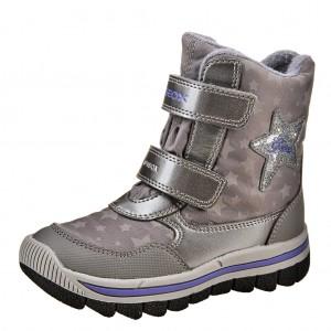 Dětská obuv GEOX J Overl /silver/violet - Boty a dětská obuv