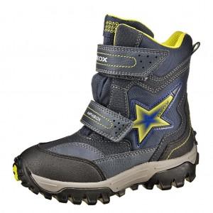 Dětská obuv GEOX J Himalaya ABX   /navy/lime - Boty a dětská obuv